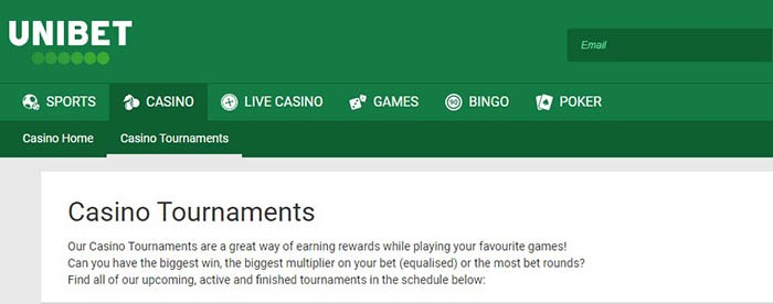 unibet casino tournaments