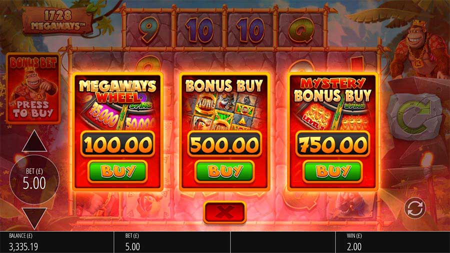 Bonus Buy feature in slots.