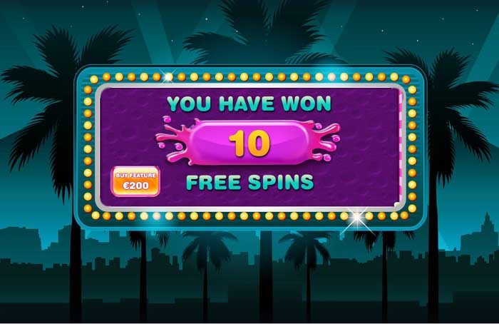 Purchase entrance to the Free Spins.